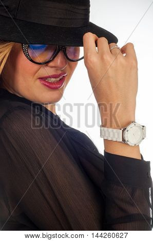 Girl In Glasses. Business Woman In Glasses