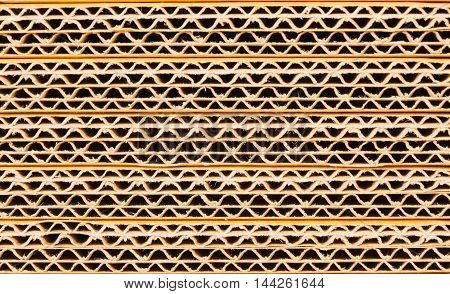 Crate paper zigzag gray color background. Abstract background.