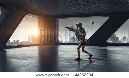 She will be a champ . Mixed media