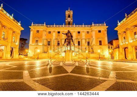 Rome Italy. Piazza del Campidoglio Capitoline the most sacred of Romes seven hills.