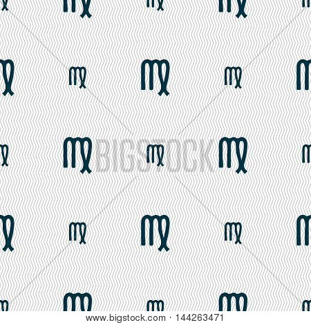 Virgo Sign. Seamless Pattern With Geometric Texture. Vector