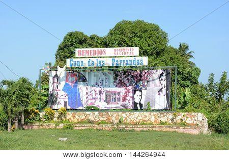 Remidios City Sign