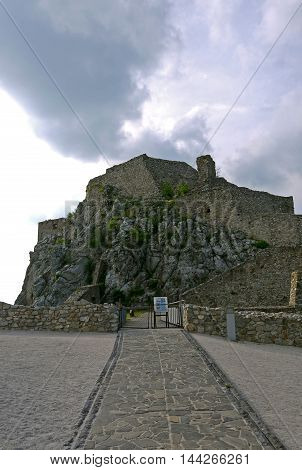 Beautiful view of Devin Castle, Bratislava. SLOVAKIA.