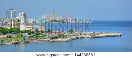 Havana Harbor And Cityscape