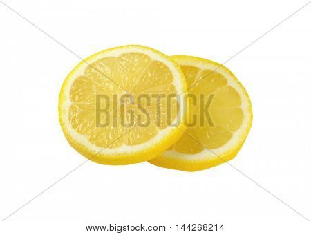 two thin slices of fresh lemon