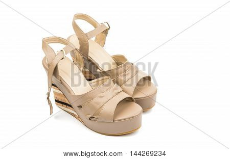 sandals glamour fashion on a white background