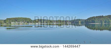 Bever Reservoir in Bergisches Land near Hueckeswagen,North Rhine Westphalia,Germany