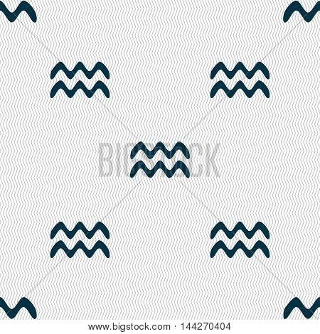Aquarius Sign. Seamless Pattern With Geometric Texture. Vector