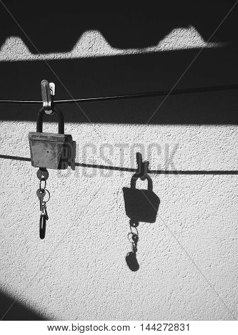 The lock reflecting all inner world, at some point in life.