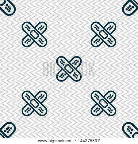 Adhesive Plaster Sign. Seamless Pattern With Geometric Texture. Vector
