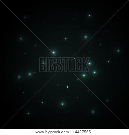 Space vector background with sparkling stars and lines. Abstract galaxy wallpaper.