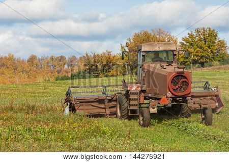 Autumn Meadow For Mowing Grass