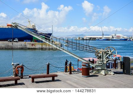 CAPE TOWN, SOUTH AFRICA - FEB 22, 2013: Port of Cape Town, South Africa. Cape town is the most popular international touristic destination in Africa