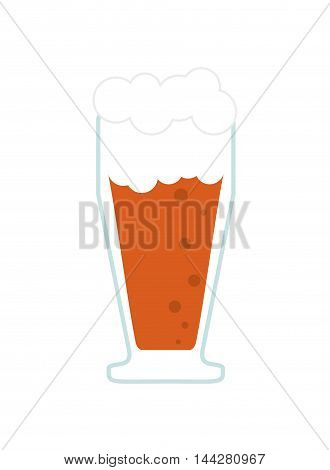 flat design glass of beer icon vector illustration