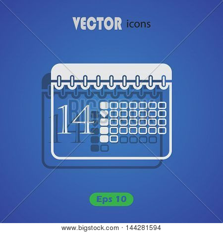 Calendar - Valentine's Day vector icon for web and mobile