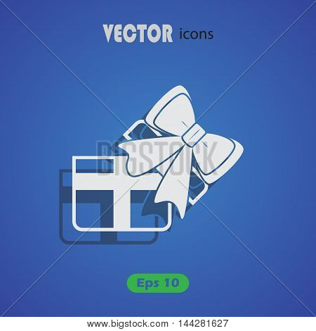 Gift - Valentine's Day vector icon for web and mobile