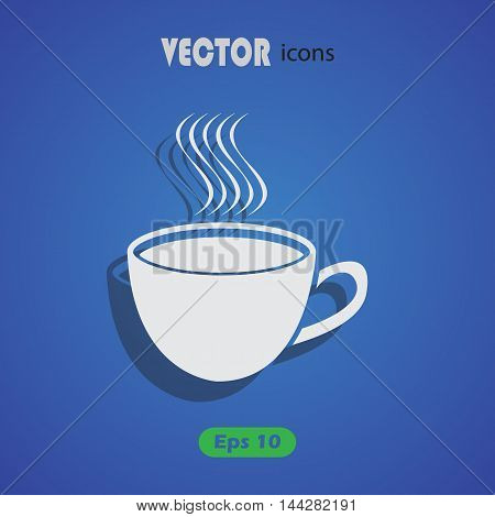 Coffee cup icon for web and mobile