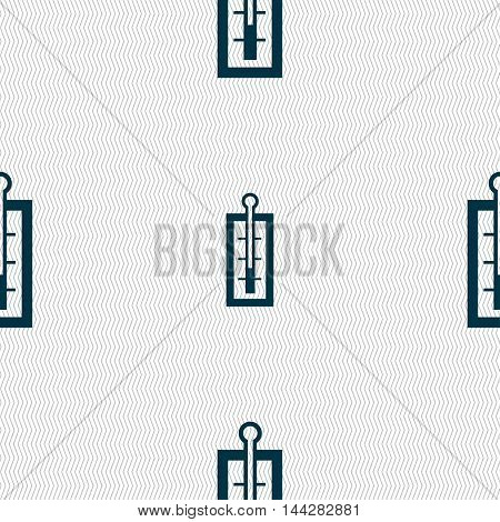 Thermometer Sign. Seamless Pattern With Geometric Texture. Vector