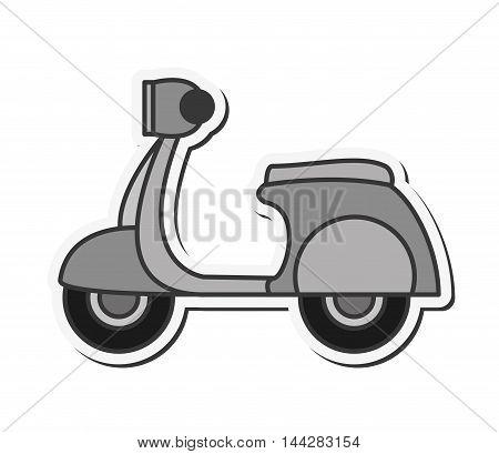 flat design retro scooter icon vector illustration