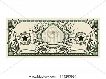bill dollar print seal isolated icon vector illustration design