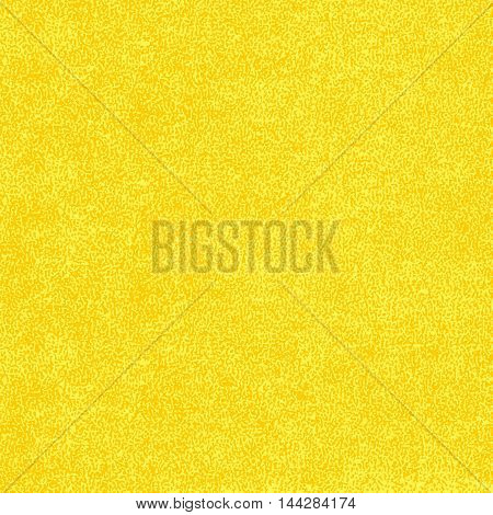 Yellow texture with effect paint. Empty surface background with space for text or sign. Quickly easy repaint it in any color. Template in square format. Vector illustration swatch in 8 eps
