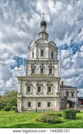 Church of Michael the Archangel in Andronikov monastery in Moscow Russia.