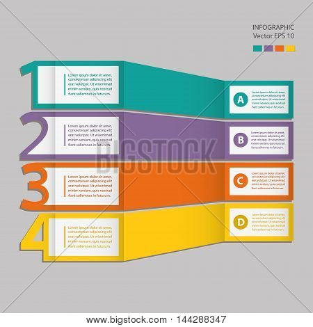 Infographics. Process chart module. Template for linear diagram graph or presentation.