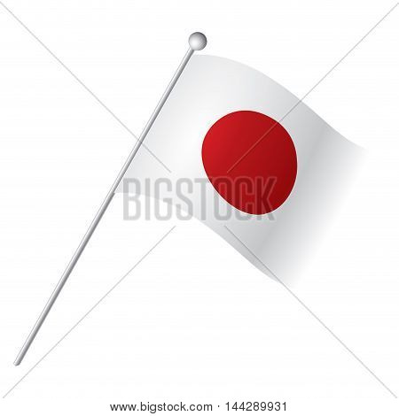 Isolated Japanese flag Vector illustration, eps 10