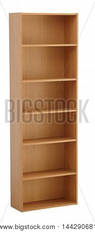 Bookcase Isolated On White