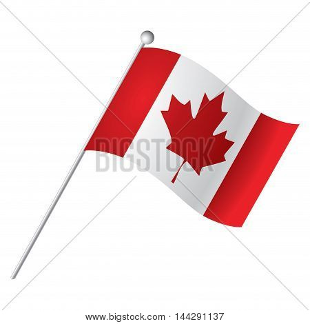 Isolated Canadian flag Vector illustration, eps 10