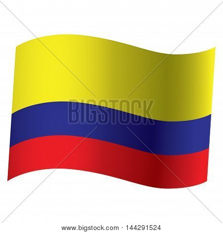 Isolated Colombian flag Vector illustration, eps 10