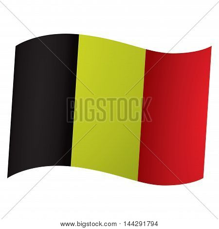 Isolated flag of Belgium Vector illustration, eps 10