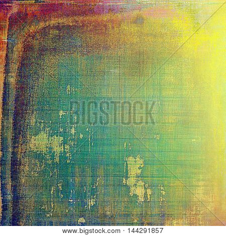Creative vintage grunge texture or ragged old background for art projects. With different color patterns: green; blue; red (orange); purple (violet); yellow (beige); pink