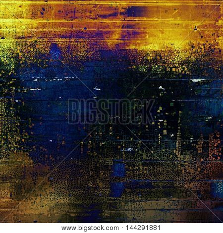 Retro colorful background or creative old style texture with different color patterns: green; blue; red (orange); yellow (beige); brown; black