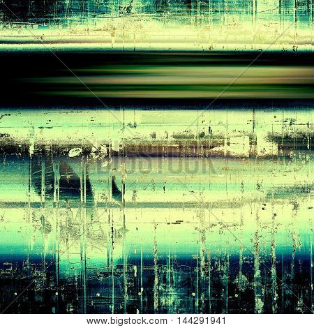 Abstract grunge background or damaged vintage texture. With different color patterns: green; blue; yellow (beige); brown; cyan; black