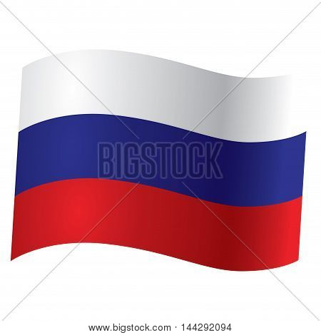 Isolated Russian flag Vector illustration, eps 10