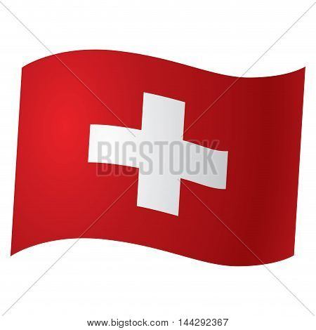 Isolated flag of Switzerland Vector illustration, eps 10