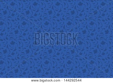 World cup of hockey. Blue pattern with maple leaves. Vector pattern