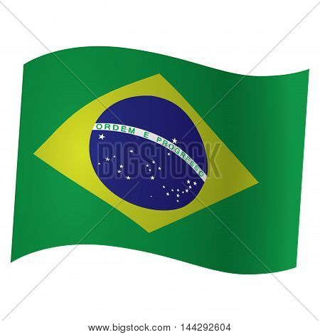 Isolated Brazilian flag Vector illustration, eps 10