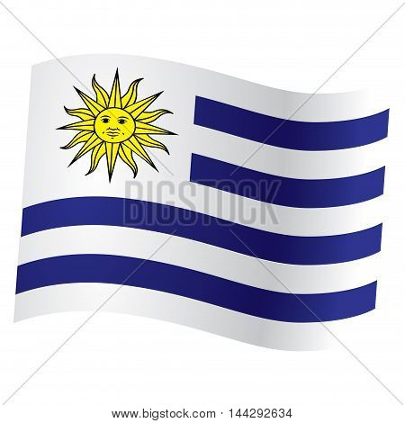 Isolated flag of Uruguay Vector illustration, eps 10