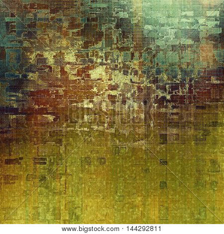 Old crumpled grunge background or ancient texture. With different color patterns: gray; green; blue; yellow (beige); brown; cyan
