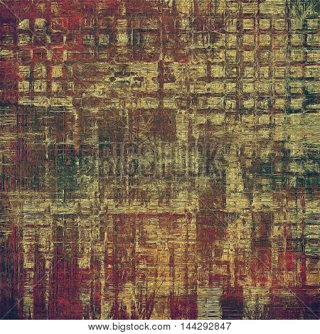Stylish grunge texture, old damaged background. With different color patterns: gray; green; red (orange); purple (violet); yellow (beige); brown
