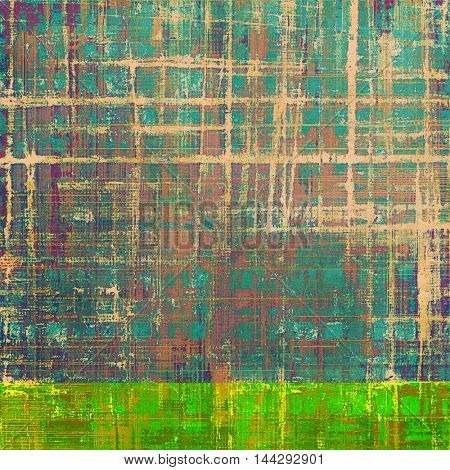 Scratched vintage texture, grunge style frame or background. With different color patterns: green; blue; red (orange); yellow (beige); brown; pink