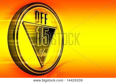 Gold metal fifteen Percent off