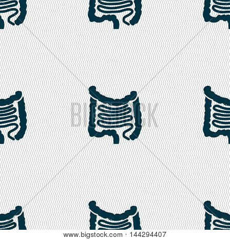 Intestines Sign. Seamless Pattern With Geometric Texture. Vector