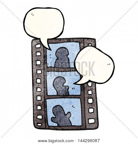 freehand speech bubble textured cartoon film strip