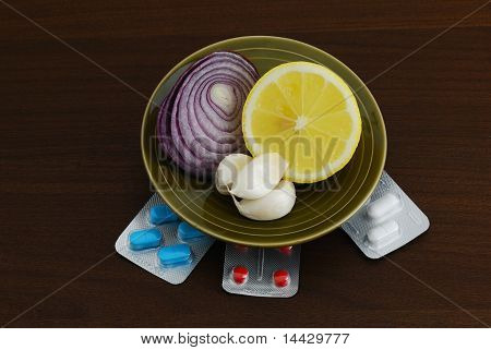 Set Of Alternative Remedies For Flu Treatment