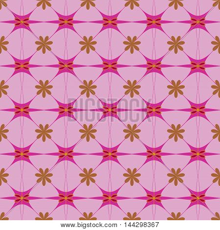 Floral color seamless pattern. Fashion graphic background design. Modern stylish abstract texture. Colorful template for prints textiles wrapping wallpaper website etc. VECTOR illustration