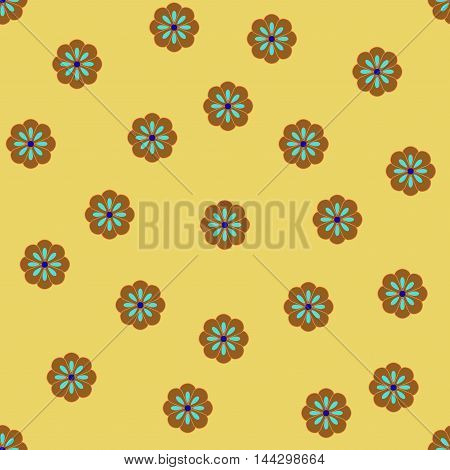 Flower seamless pattern. Fashion graphic background design. Modern stylish abstract texture. Colorful template for prints textiles wrapping wallpaper website etc. VECTOR illustration
