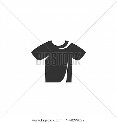 Vector Tshirt icon isolated on a white background. Tshirt logo in flat style. Simple icon as element for design. Vector symbol, sign, pictogram, illustration